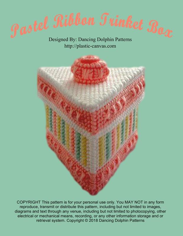 172 - Pastel Ribbon Trinket Box