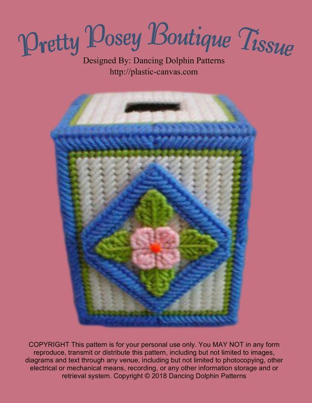 097 - Pretty Posey Boutique Tissue Box