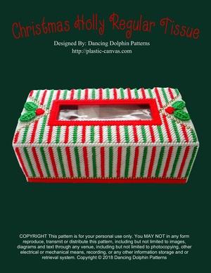 373 - Christmas Holly Regular Tissue