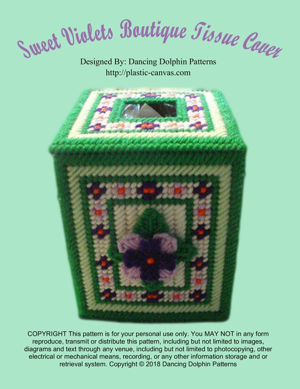 345 - Sweet Violets Boutique Tissue Cover