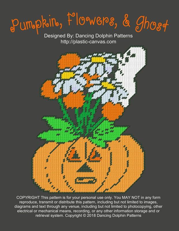 591 - Pumpkin, Flowers, & Ghost