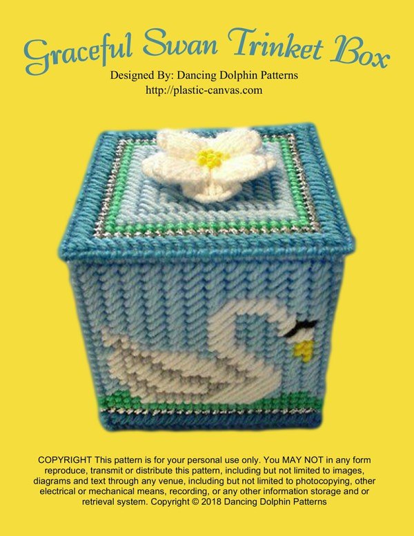 168 - Graceful Swan Trinket Box