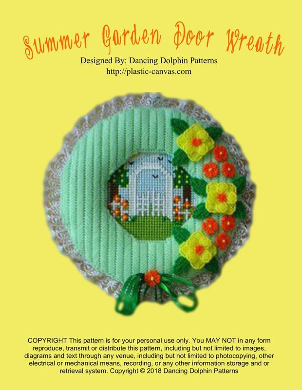 101 - Summer Garden Door Wreath