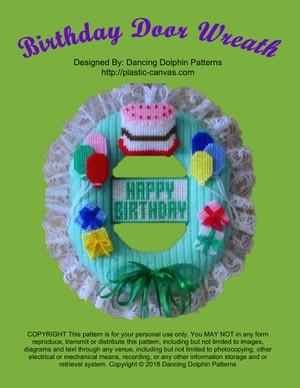 059 - Birthday Door Wreath
