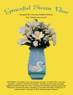 349 - Graceful Swan Vase