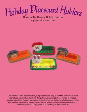 224 - Holiday Placecard Holders