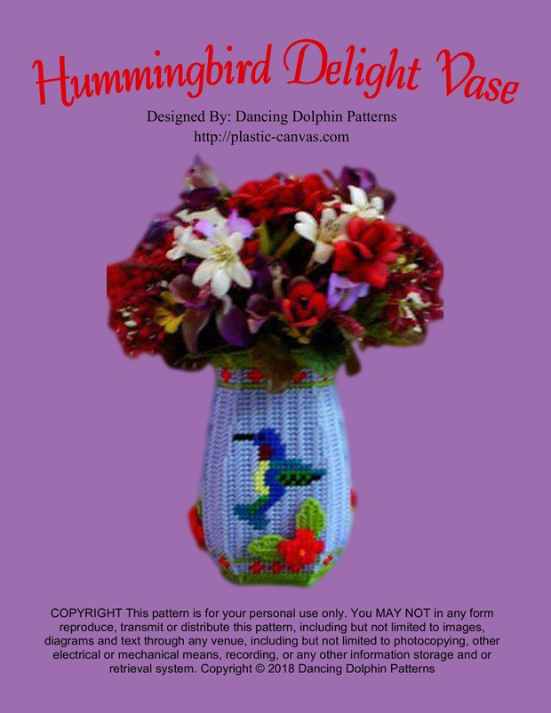 025 - Hummingbird Delight Vase