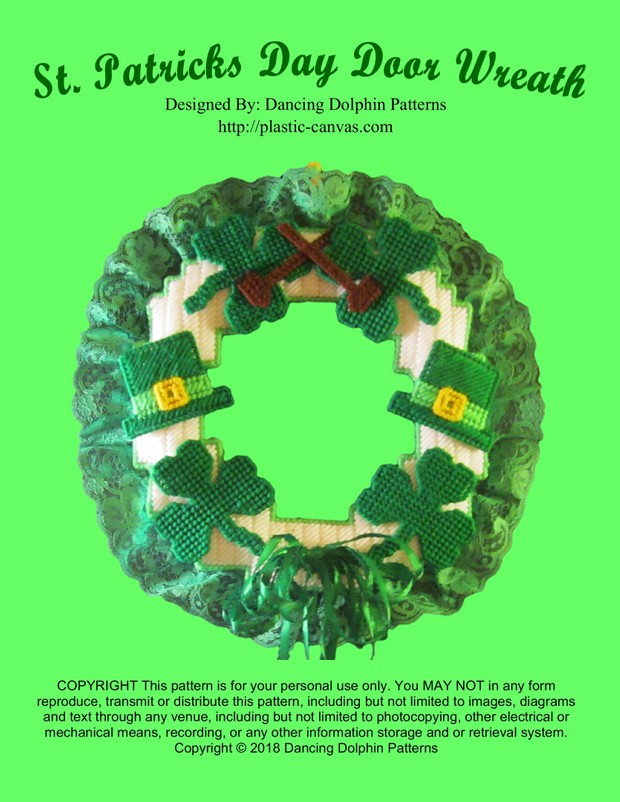 035 - St. Patricks Day Door Wreath