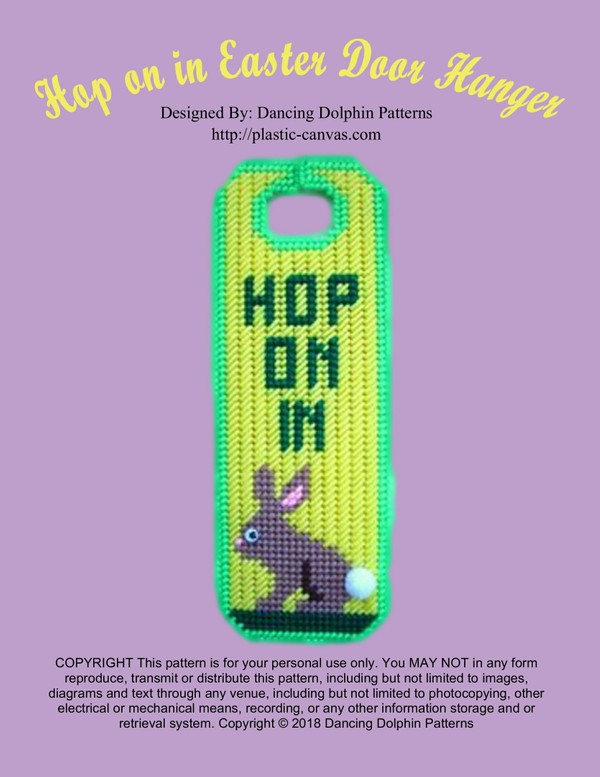 434 - Hop on in Easter Door Hanger