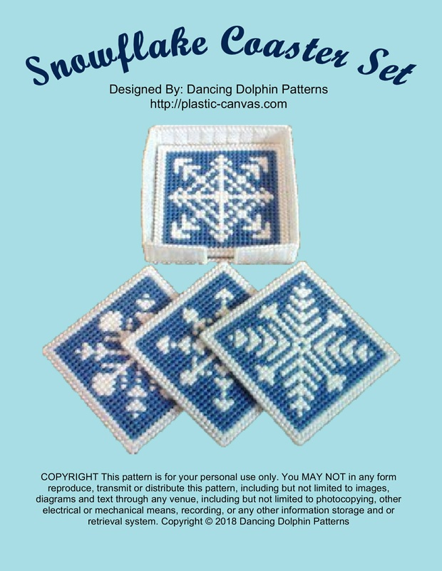 290 - Snowflake Coaster Set