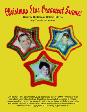 188 - Christmas Star Ornament Frames