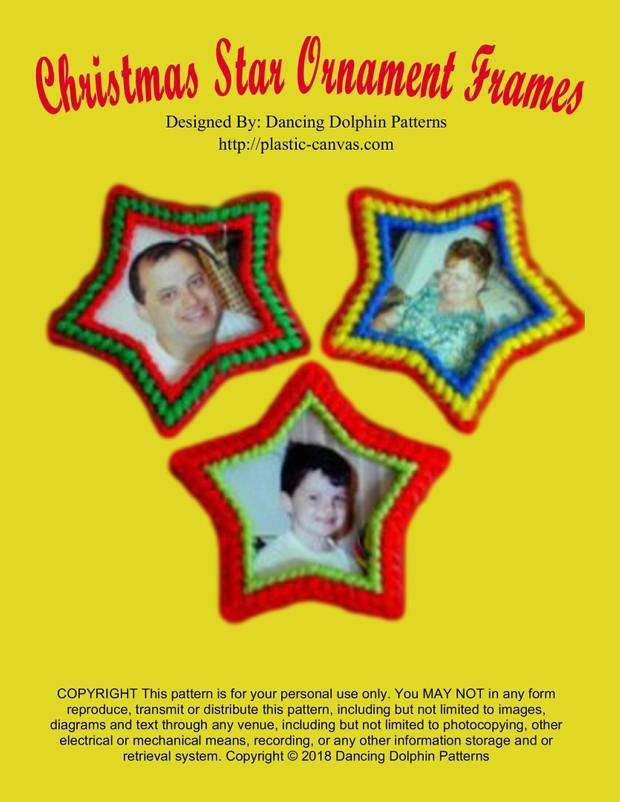 188 - Christmas Star Ornament Frames