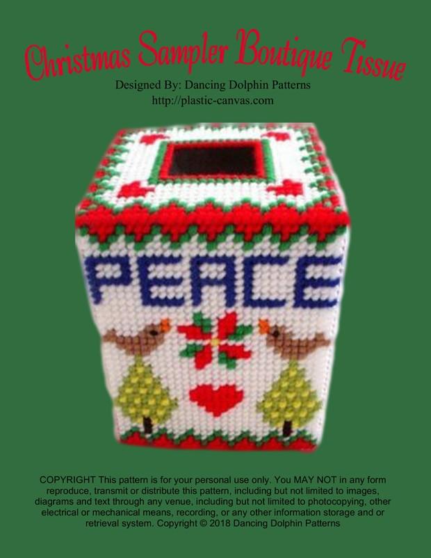 266 - Christmas Sampler Boutique Tissue