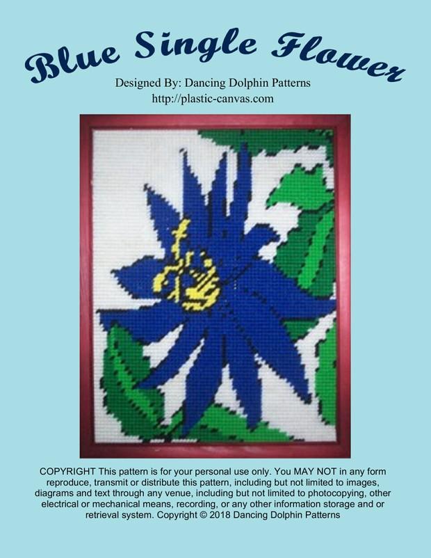 517 - Blue Single Flower