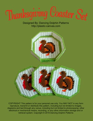 281 - Thanksgiving Coaster Set