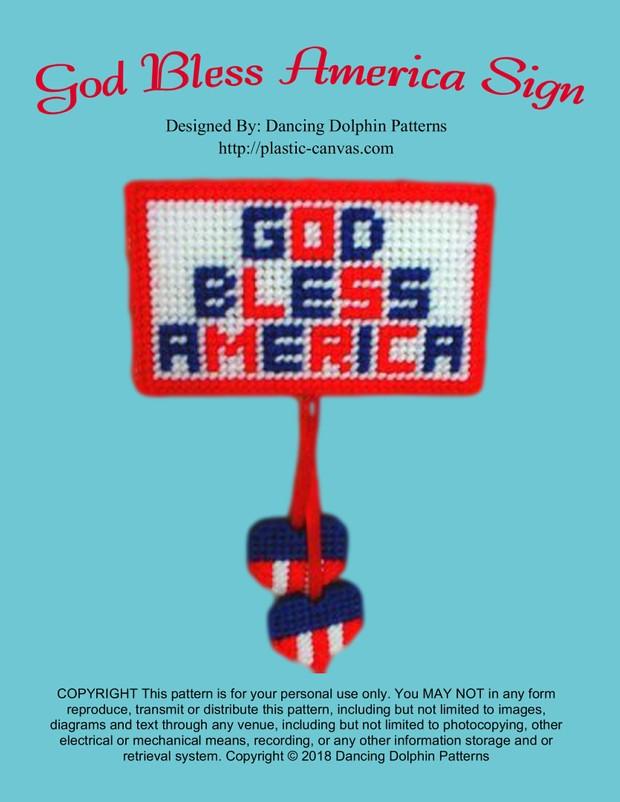 284 - God Bless America Sign
