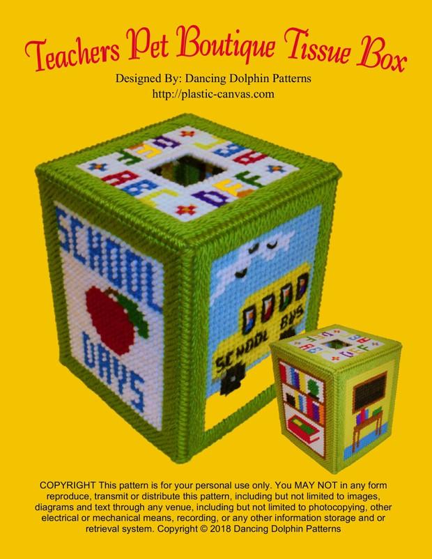 253 - Teachers Pet Boutique Tissue Box