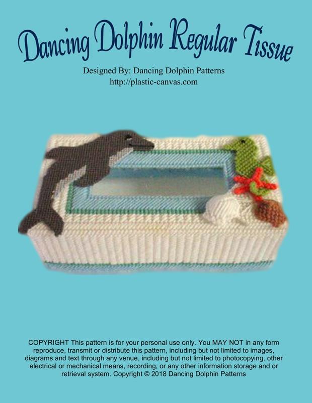 003 - Dancing Dolphin Regular Tissue Box