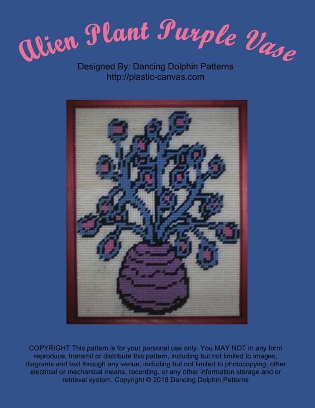 515 - Alien Plant Purple Vase