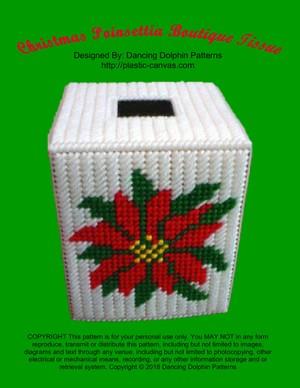 053 - Christmas Poinsettia Boutique Tissue