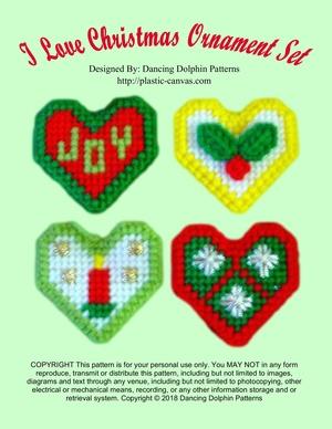 342 - I Love Christmas Ornament Set