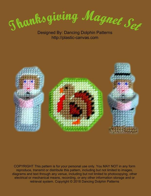 340 - Thanksgiving Magnet Set