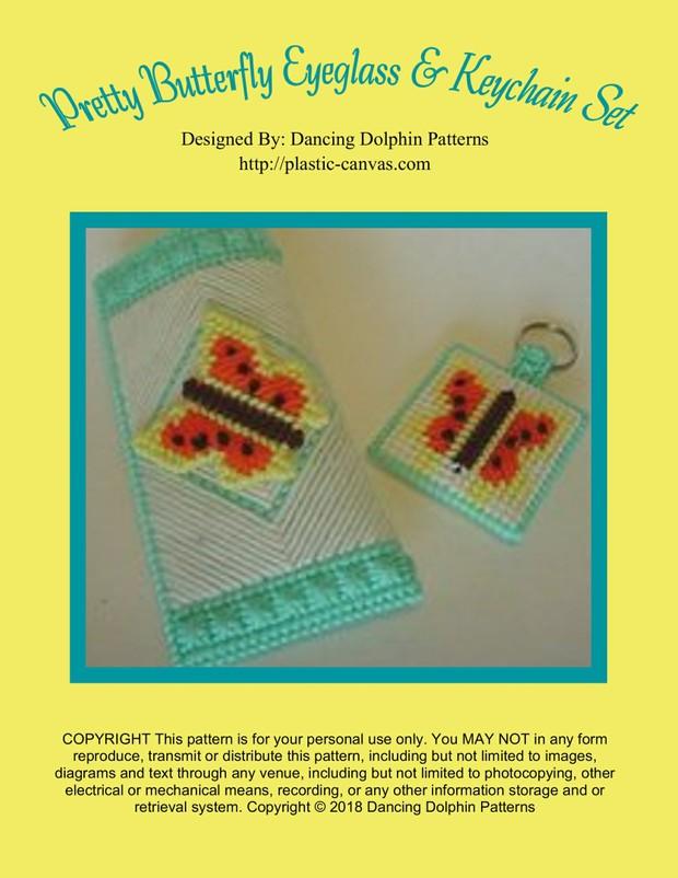 481 - Pretty Butterfly Eyeglass & Keychain Set