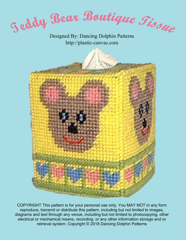 269 - Teddy Bear Boutique Tissue