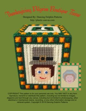 466 - Thanksgiving Pilgrim Boutique Tissue
