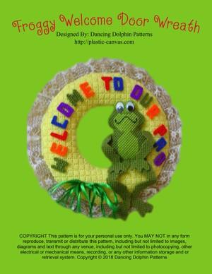 042 - Froggy Welcome Door Wreath