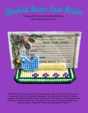 180 - Bluebird Recipe Card Holder