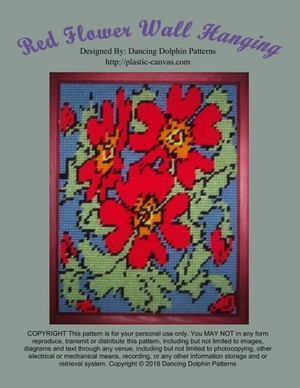 519 - Red Flower Wall Hanging