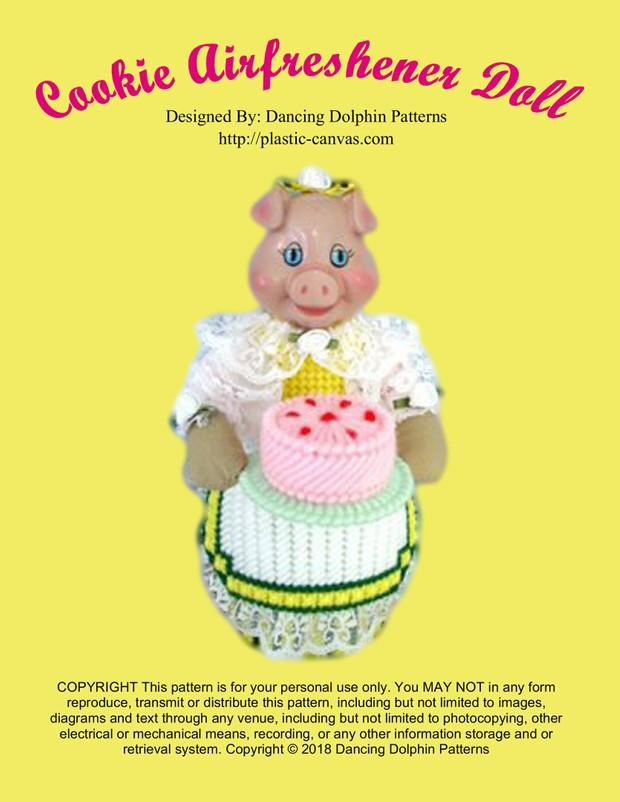 436 - Cookie Airfreshener Doll