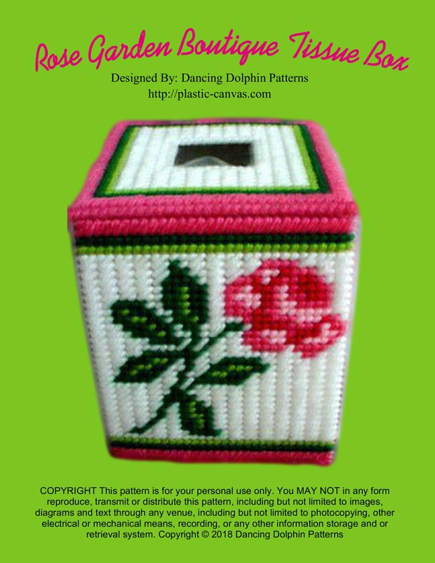 107 - Rose Garden Boutique Tissue Box