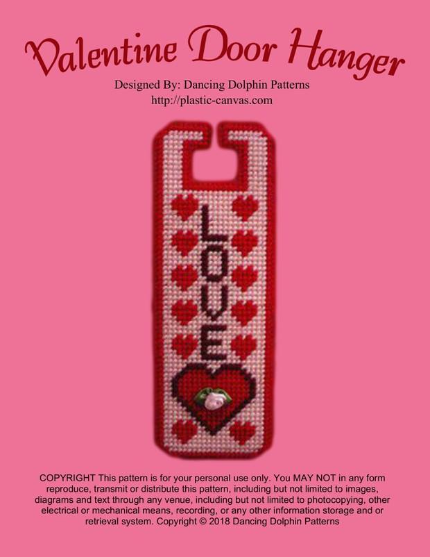 176 - Valentine Door Hanger