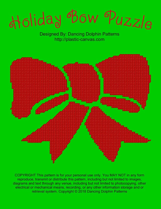 608 - Holiday Bow Puzzle