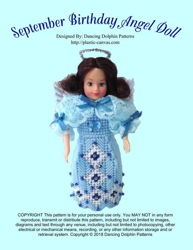 456 - September Birthday Angel Doll