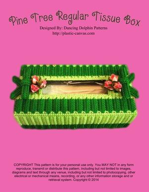 067 - Pine Tree Regular Tissue Box
