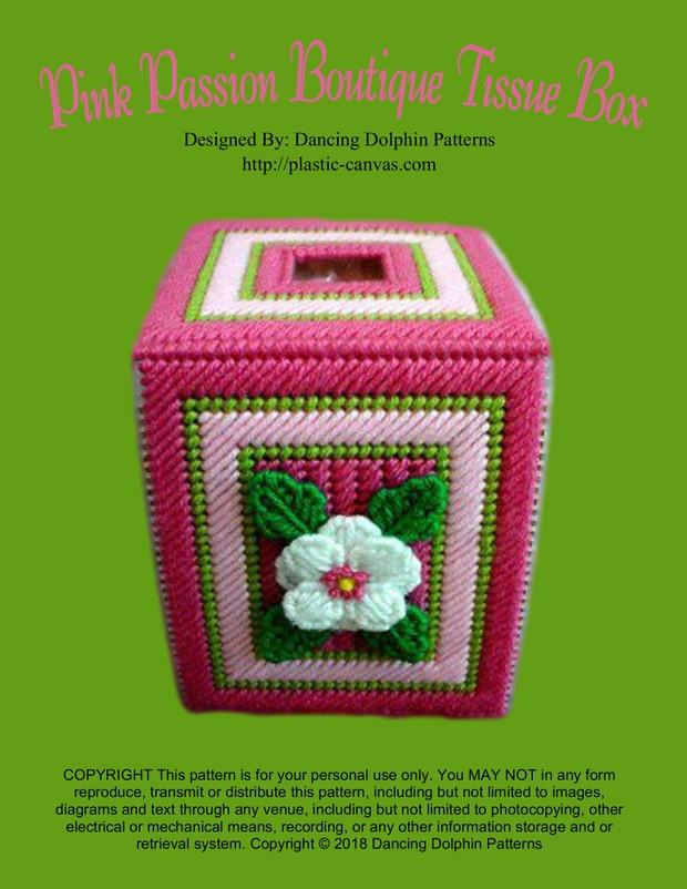 229 - Pink Passion Boutique Tissue Box