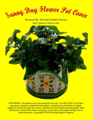 351 - Sunny Day Flower Pot Cover