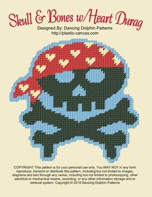 566 - Skull & Bones w/Heart Durag