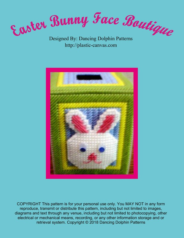 219 - Easter Bunny Face Boutique