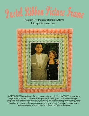 171 - Pastel Ribbon Picture Frame