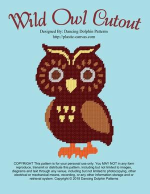 558 - Wild Owl Cutout