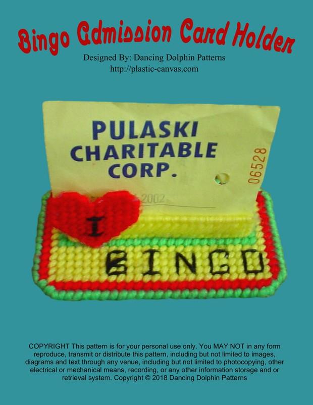 181 - Bingo Admission Card Holder