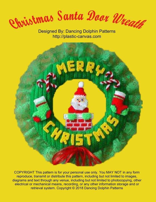 032 - Christmas Door Wreath