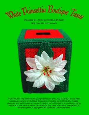 278 - White Poinsettia Boutique Tissue