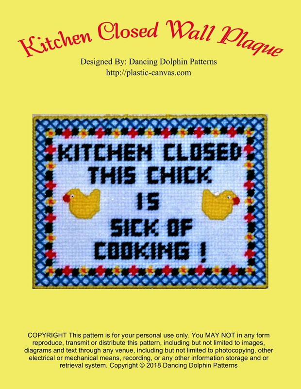 235 - Kitchen Closed Wall Plaque