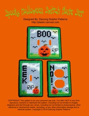147 - Spooky Halloween Switch Plate Set