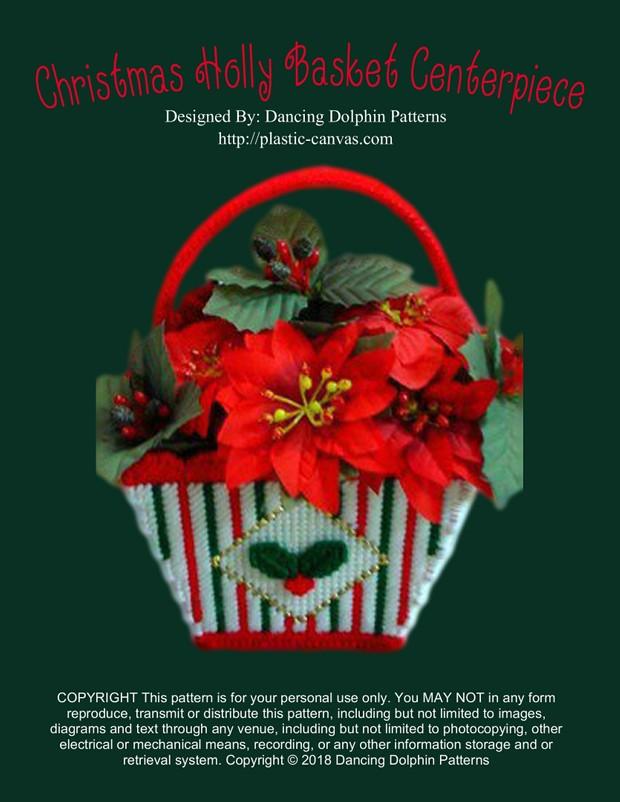 151 - Christmas Holly Basket Centerpiece